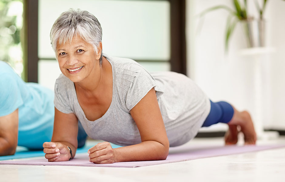 mature woman excersizing